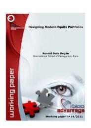Designing Modern Equity Portfolios - globAdvantage - Instituto ...