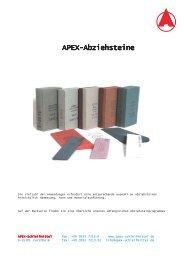APEX-Abziehsteine - APEX - Schleifmittel