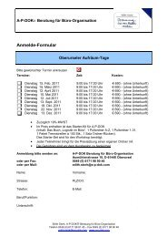 Anmelde-Formular - AP-DOK