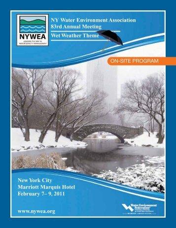 NY Water Environment Association 83rd Annual Meeting ... - NYWEA