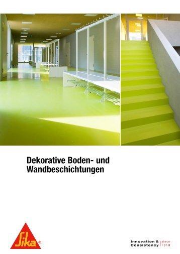 Dekorative Boden- und Wandbeschichtungen - Sika Schweiz AG