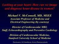 Coronary Atherosclerosis - Stanford Hospital & Clinics