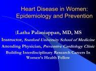 Heart Disease in Women - Stanford Hospital & Clinics