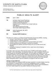 COUNTY OF SANTA CLARA - Stanford Hospital & Clinics