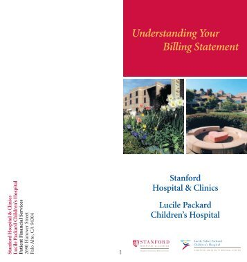 Understanding Your Billing Statement - Lucile Packard Children's ...