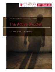 The Active Shooter - Stanford Hospital & Clinics Risk Consulting