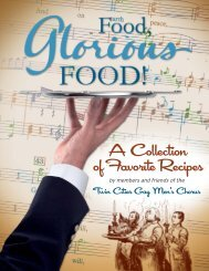 A Collection of Favorite Recipes - Twin Cities Gay Men's Chorus
