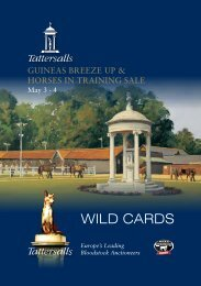 WILD CARDS - Tattersalls