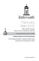 February Sale 2012 - Tattersalls