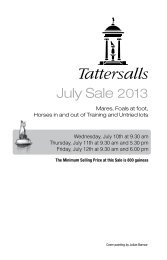 July Sale 2013 - Tattersalls
