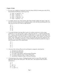 Page 1 Chapter 15 Quiz 1. If a coin were weighted so heads had 3 ...