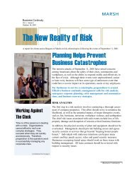 Planning Helps Prevent Business Catastrophes