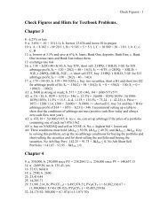 Check Figures and Hints for Textbook Problems. Chapter 3 Chapter 4