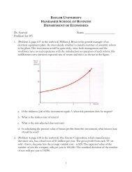 Problem Set #5 - Finance, Insurance & Real Estate - Baylor University
