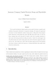 Insurance Company Capital Structure Swaps and Shareholder Wealth