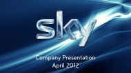 Company Presentation April 2012 - Sky Deutschland AG