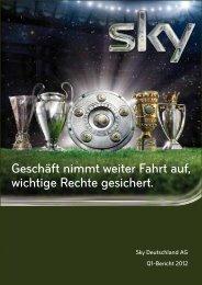 Q1-Bericht 2012 - Sky Deutschland AG
