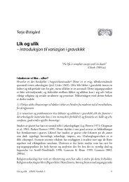 Lik og ulik - Universitetet i Bergen