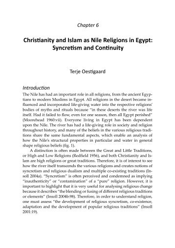 Christianity and Islam as Nile Religions in Egypt: Syncretism and ...