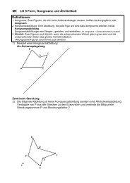 M9 LU 5 Form, Kongruenz und Ähnlichkeit Definitionen: