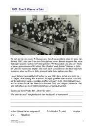 1967: Eine 5. Klasse in Suhr