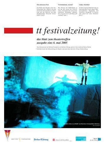 Ausgabe eins - Berliner Festspiele