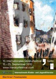 Programm KJL 2010 - Berliner Festspiele