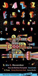 Programm JazzFest Berlin 2011 - Berliner Festspiele