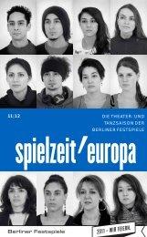 Programmbroschüre spielzeit'europa 11|12 - Berliner Festspiele