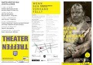 Flyer der Ausstellung - Berliner Festspiele