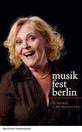 Programmbroschüre musikfest berlin 10 - Berliner Festspiele