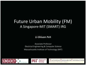 Future Urban Mobility (FM) - LTA Academy