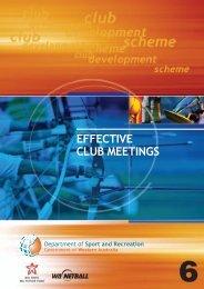 6. Effective club meetings - Australian Sports Commission