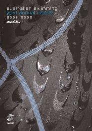 australian swimming 93rd annual report 2001/2002