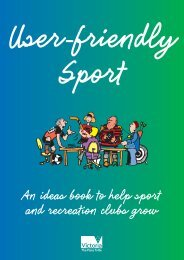User Friendly sport - Department of Planning and Community ...
