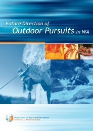 Future Direction of Outdoor Pursuits in WA - Australian Sports ...