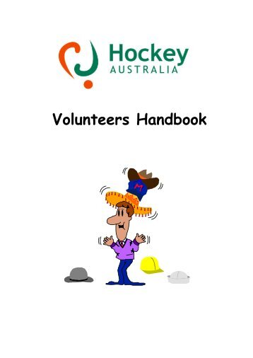 Volunteers Handbook - Australian Sports Commission