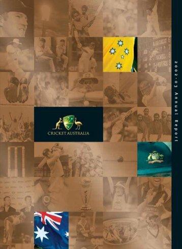2002-03 Annual R eport 2002-03 Annual R eport - Australian Sports ...