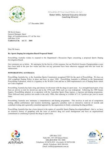 Powerlifting Australia - Department of Communications, Information ...