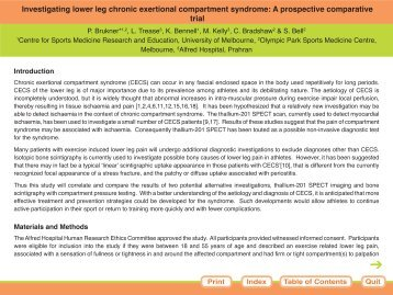 Investigating lower leg chronic exertional compartment syndrome: A ...
