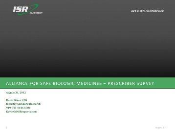 survey - Alliance for Safe Biologic Medicines
