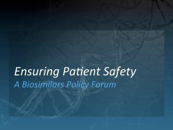 Biosimilars 101 - Alliance for Safe Biologic Medicines