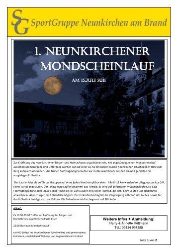 1. Neunkirchener Mondscheinlauf - SportGruppe Neunkirchen am ...