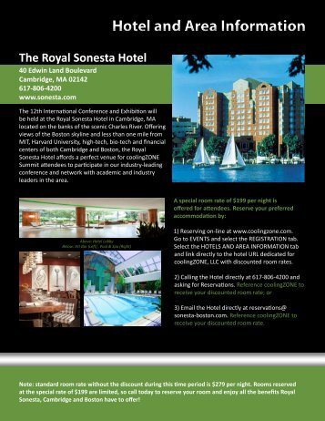 to download our information packed hotel and area ... - coolingZONE