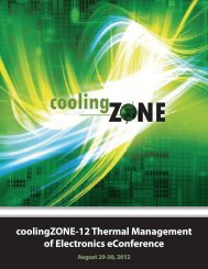 coolingZONE-12 Thermal Management of Electronics eConference