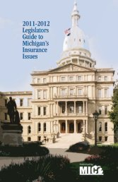 2011-2012 Legislators Guide to Michigan's Insurance Issues 2011 ...