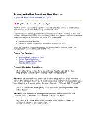 Transportation Services Bus Routes