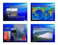 Brian Cousens Volcanic Hazards