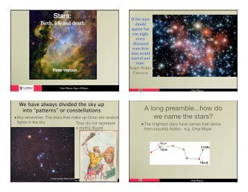 Stars: A long preamble...how do we name the stars?