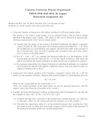 Assignment 2 [pdf] - Department of Physics - Carleton University